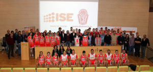 Presentation of the Almeria Basket club, sponsored by ISE