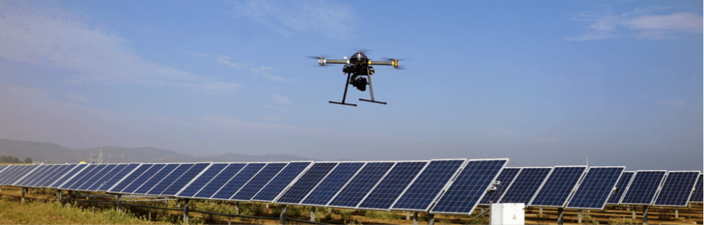 ISE's dron for thermographies and workfields on solar plants