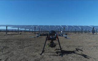 Ingenia's dron, ready to do the inspection of the solar plant